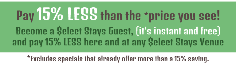 Stays Select Guests pay 15% Less