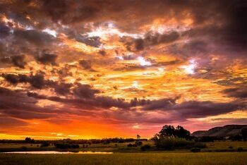 Sunset at Thaba Manzi Ranch, Magaliesburg, Gauteng